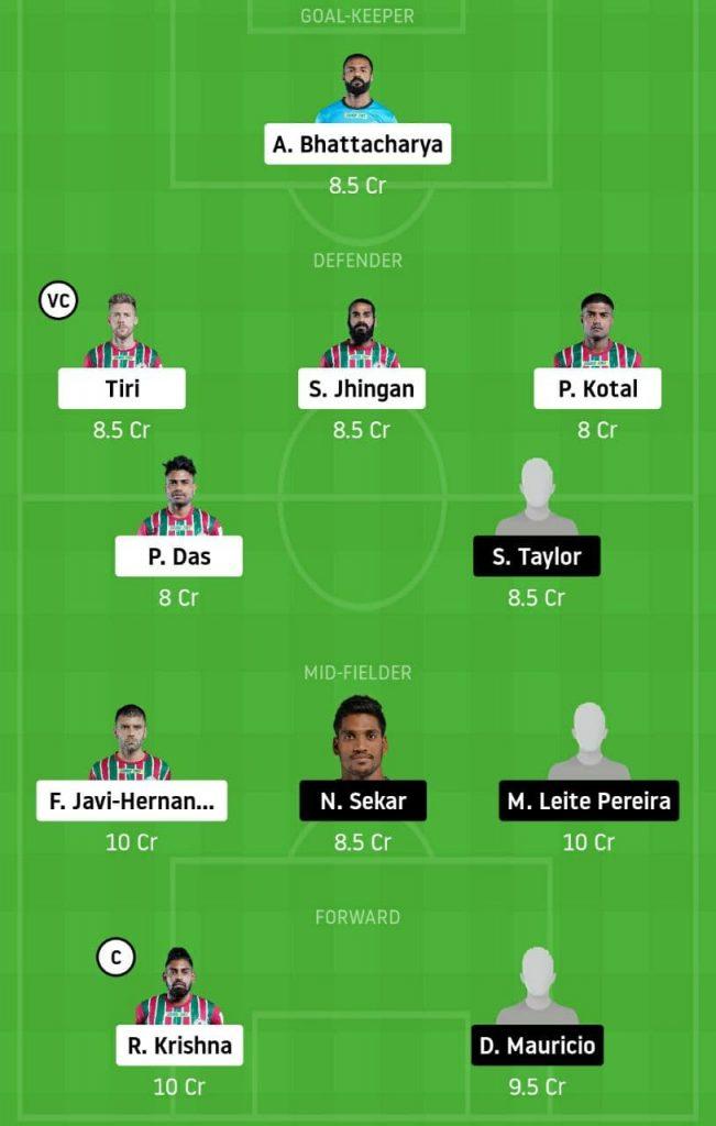 ATKMB vs OFC Dream11 Team | ATK Mohun Bagan vs Odisha FC Dream11 Team | Indian Super League