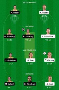 NZ-W vs AU-W Dream11 Prediction