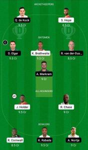 WI vs SA Dream11 Prediction